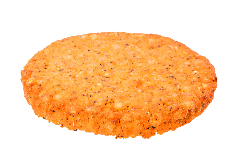 Chickpea and pearl barley patty