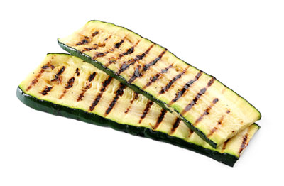 Oven baked courgettes